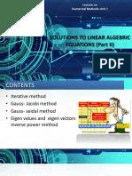 Numerical Method Unit-5-Lecture-Iterative-Method