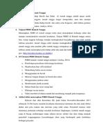 Definisi PHBS Rumah Tangga