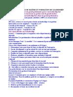 GESTION DE CLASSE DE MAÎTRE ET FORMATION DE LEADERSHIP