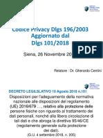 Codice Privacy  agg 2018
