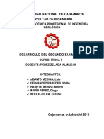 DESARROLLO DEL SEGUNDO EXAMEN-FÍSICA