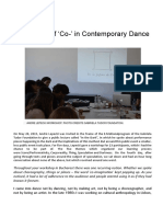 "The Power of ""Co-"" in Contemprary dance. Una entrevista a Andre Lepecki"