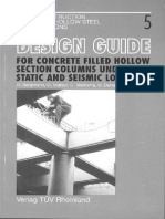 Design Guide 5 For concrete filled hollow section columns under static and seismic loading
