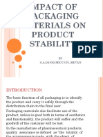 IMPACT OF PACKAGING MATERIALS ON PRODUCT STABILITY - FINAL