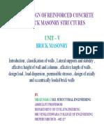 DOS III - UNIT IV MASONRY WALL
