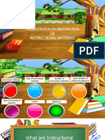 preparation of Instructional materials
