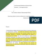 Governacao Eleitoral, incentivos institucionais e compenticao partidaria,,Gabriela Tarouco