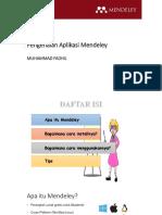 Pengenalan Aplikasi Mendeley-Fadhil