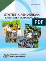 Statistik Pendidikan Kabupaten Semarang 2018