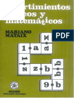 Mariano Mataix - Divertimentos lógicos y matemáticos.pdf