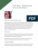 financial risk of a Lending