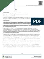 Auxilio económico desde Nación para Río Negro, Chubut, Chaco, Tucumán y Santa Cruz