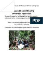 Access and Benefits Sharing