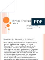 EXPORT OF RICE FROM INDIA