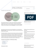 Difference between monetary & fiscal policy