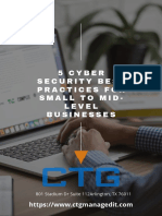 5 Cyber Security Best Practices for Small to Mid-level Businesses