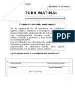 LECTURA MATINAL formato de guia para fotocopiar