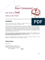 Hebrews study guide - Section 9 - New Covenant in His Blood