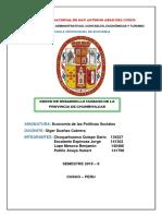 IDH DE LA PROVINCIA DE CHUMBIVILCAS