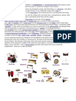 diffrent basic  types of instruments