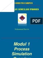 Modul 1 Hysys - Process Simulation Overview