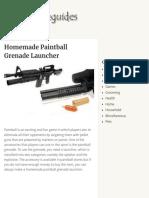 Homemade Paintball Grenade Launcher - Homemade Guides