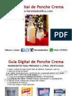 GUIA DE PONCHE CREMA VARIEDADES NICE