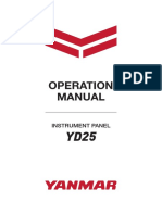 YANMAR-YD25 Operation Manual 164100-29010