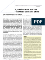 Cladogenesis Coalescence and the Evolution of the Three Domains of Life