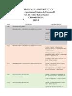 CRONOGRAMA - 2019 analisis critico discurso