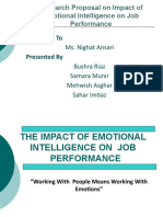 Impact of EI on Job Performance