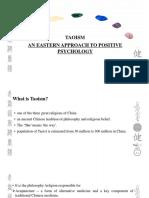 taoism- an eastern approach to positive psychology-ARYA K RAVI-PG19024