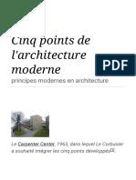 Cinq points de l'architecture moderne — Wikipédia.pdf