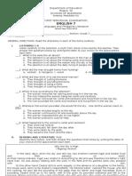 Grade 7 English First-Periodical-Examination