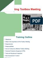 HSE-BMS-005 Conducting Toolbox Meeting