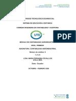 MODULO DE CONTABILIDAD AGROINDUSTRIAL ABRIL-AGOSTO 2018