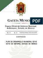 2.1_GACETA_31_2016_Plan_de_Desarrollo_Municipal