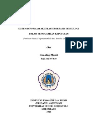 Proposal Peranan Sistem Informasi Akuntansi Dalam Pengambilan Keputusan