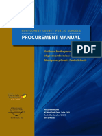Montgomery County Public Schools Procurement Manual
