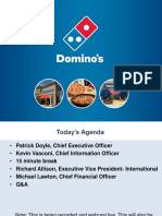 Domino's Pizza Investor Day Presentation for Thomson