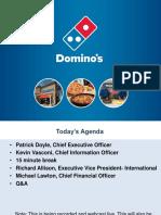 Domino's Pizza Investor Day Presentation for Thomson