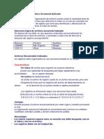 Organización de Archivos Secuencial Indexado