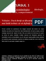 CURSUL 1 - Clarificări terminologice (ideologie, atitudini, valori, comportament)