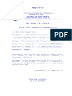 DECLARACION JURADA MAESTRIA