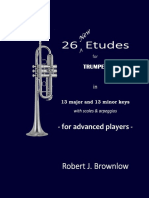 Brownlow 26 New Etudes for Trumpet In 13 major and 13 minor keys with scales & arpeggios