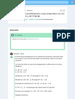 hallar el area del paralelogramo cuyas diagonales son los vectores d1=3i-j+k y d2=7i-3j+5k - Brainly.lat