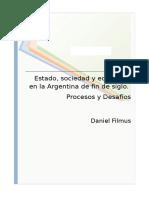 Daniel Filmus - Estado Sociedad y Educacion en la Argentina