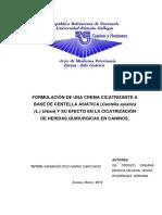 EFECTOS DE UNA FÓRMULA A BASE DE CENTELLA ASIÁTICA (Hydrocotyle asiatica) SOBRE LA CICATRIZACIÓN DE HERIDAS EN CANINOS
