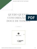 Queijo quente com Oregãos e Doce de Tomate - Queijos Portugueses