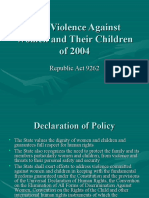 Anti-Violence Against Women and Their Children of 2004